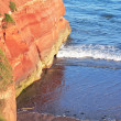 Sandy rocks at Jurassic Coast, South England — Stock Photo