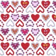 Flower hearts background design - Foto Stock