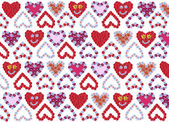 Flower hearts background design — Zdjęcie stockowe