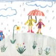 A rainy day - children painting — Stock Photo #26311483