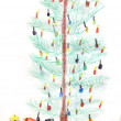 Christmas tree - childrens drawing — Stock Photo #26311633