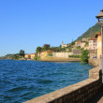 Lakeside promenade gargnano and garda lake — Stock Photo #27884211