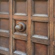 Coffered entrance with door knob — Stock Photo