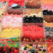 Assortment of candies at the market — Foto Stock