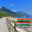 Toscolano beach, garda lake, italian tourist resort — Stock Photo