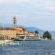 Oldtown of salo and garda lake, italy — Stock Photo