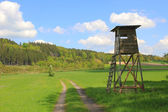 Hunters seat and pasture, german landscape — Stock Photo