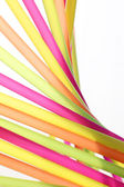 Party background with colorful straws — Stock Photo