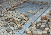 Unfinished pavement — Stock Photo