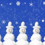 Christmas Card Snowmen — Stock Photo