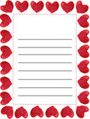 Template for wedding shopping list — Stock Photo