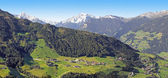 View to zillertal valley, austria — Stock Photo