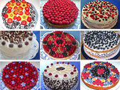 Selection of traditional german cakes — Stock Photo