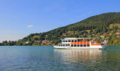 Steamboat at lake tegernsee, Germany — Stock Photo
