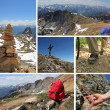 Collage - mountaineering in the austrian alps — Stock Photo
