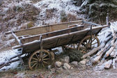 Nostalgic hay cart in winter — Stock Photo