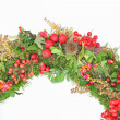 Detail of autumn wreath — Stock Photo