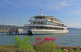 Passenger liner at Starnberg vessel, lake starnberger see, bavaria — Stock Photo