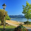 Lakeside promenade, lake tegernsee, germany — Stock Photo