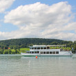 Stock Photo: Steamboat at lake tegernsee, germany