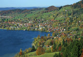 Health resort schliersee village, bavaria, upper bavaria, germany — Stock Photo