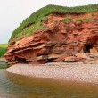 Red sand cliffs at jurassic coast, south england — Stock Photo #39098391