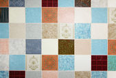 Background of mixed up wall tiles — Stock Photo