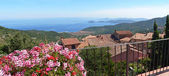 Beautiful panoramic view over marciana, elba island, italy — Stock Photo