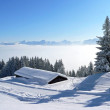 Picturesque winter landscape in the austrian alps — Stock Photo