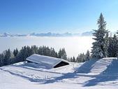 Picturesque winter landscape in the austrian alps — Stock Photo