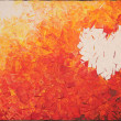 Stock Photo: Heart on fire, acrylic painting