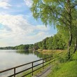 Stock Photo: Lakeside of seehamer see, tourist resort, germany