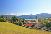 Panoramic view to health resort tegernsee, germany — Stock Photo