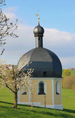 Pilgrimage chapel wilparting in spring, germany — Stock Photo