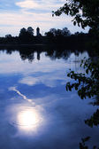 Moor lake with moonlight scenery  — Stock Photo