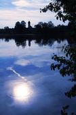 Moor lake with moonlight scenery  — Stock Photo