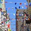 Festive bunting flags in the street — Stock Photo #49743165