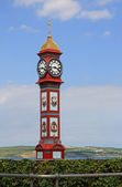 Seafront weymouth with clock tower — Stock Photo