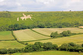 White horse osmington, historic figure — Stock Photo
