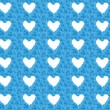 Blue flower background with white hearts — Stock Photo #50148781