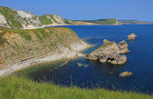 Viewpoint jurassic coast dorset — Stock Photo