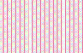 Striped backdrop with pastel colored hearts and roses — ストック写真