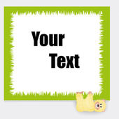 Teddy for text — Stock Vector