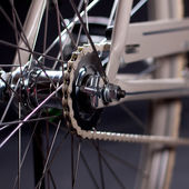 Old refurbished retro bike - Details — 图库照片