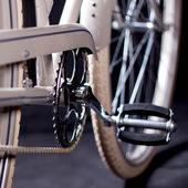 Alte renovierte retro-bike - informationen — Stockfoto