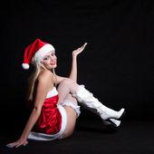 Sexy vrouw santa claus — Stockfoto