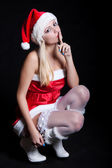 Sexy Woman Santa Claus — Stock Photo