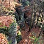Rocky landscape in autumn — Stock Photo