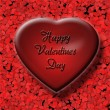 3d Red Valentine Heart — Stockfoto #38358555