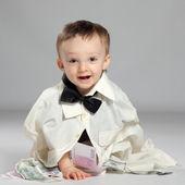 Toddler boy businessman — Stock Photo